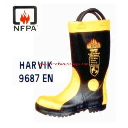 รองเท้าดับเพลิง ยี่ห้อ HARVIK รุ่น 9687L มาตราฐาน CE/EN
