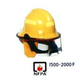หมวกดับเพลิงเทอร์โมพลาสติก Temp. 1500-2000'F