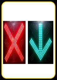 สัญญาณไฟควบคุมช่องทางเดินรถสลับทิศทา