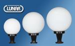 โคมไฟหัวเสาแก้วกลม สำหรับหลอดคอมแพคฟลูออเรสเซนต์