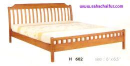 เตียงไม้ยางพาราแท้