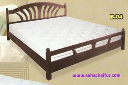 เตียงไม้ยางพาราแท้ เดอะซัน 6 ฟุต
