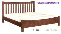 เตียงไม้ยางพาราแท้ ริชชี่ 6 ฟุต