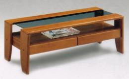 โต๊ะกลางไม้สำหรับชุดรับแขก รุ่นมารีน สีเข้ม
