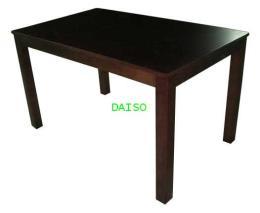 โต๊ะอาหารวีเนียร์ลายไม้บีชสีเข้ม