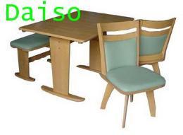 ชุดโต๊ะเก้าอี้อาหารไม้