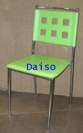 เก้าอี้เหล็กชุบโครเมี่ยมหุ้มหนังเทียม