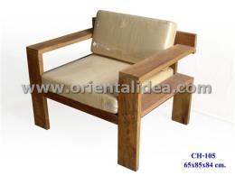 เก้าอี้ไม้พร้อมเบาะรองนั่ง CH-105