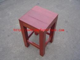 เก้าอี้ไม้เต็งทั้งตัว ทรงสี่เหลี่ยม
