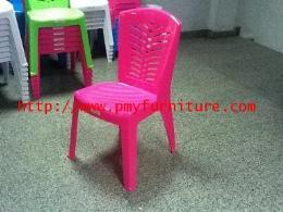 เก้าอี้พลาสติกมีพนักพิง