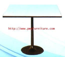 โต๊ะเอนกประสงค์ขาแชมเปญหน้าขาวโครงสีดำ