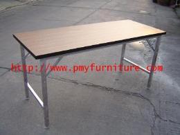 โต๊ะพับหน้าลายไม้