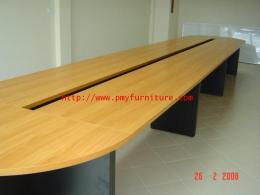 โต๊ะประชุมไม้ หนา 1 นิ้วผิวเมลามีน