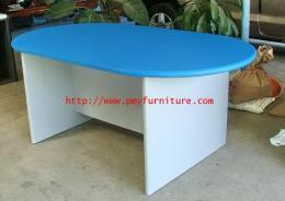โต๊ะประชุมไม้วงรี
