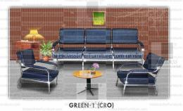 เก้าอี้โซฟารับแขก GREEN-1-CRO
