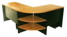 ชุดโต๊ะทำงานตัวแอล PVC