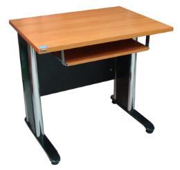 โต๊ะคอมพิวเตอร์ขาโครเมี่ยม ขนาด 80 ซม