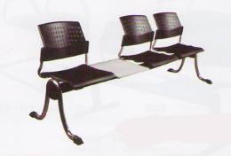 เก้าอี้แถวพักคอย 3 ที่นั่ง + โต๊ะ