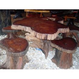 โต๊ะไม้ประดู่ ( ร่องนำ )