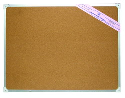 กระดานไม้ก็อกขอบอลูมิเนียม Cork Board 40×60 cm.