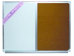 กระดานไวท์บอร์ดผสมไม้ก็อก 90x120cm.
