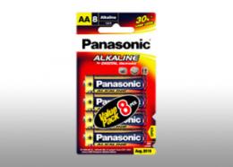 ถ่านอัลคาไลน์ Panasonic AA LR6T/8B