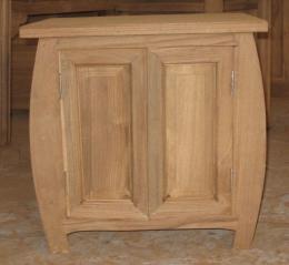 ตู้หัวเตียงไม้สัก 2 บานประตู ทรงอึ่งอ่าง
