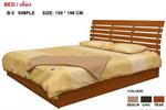 เตียงไม้ระแนง 6 ฟุต รุ่น Simple Bed