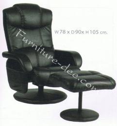 เก้าอี้พักผ่อน + สตูล หนัง PVC