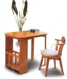 โต๊ะทำงาน + เก้าอี้ไม้ยางพารา รุ่น Gardent