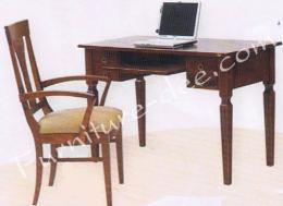 โต๊ะคอมพิวเตอร์ EU/1 (4 ลิ้นชัก) ไม้ยางพารา