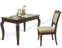 โต๊ะทำงาน + เก้าอี้ไม้ยางพารา รุ่น Merlion