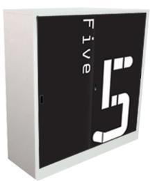 ตู้เสื้อผ้าเด็กบานเลื่อนลายตัวเลข