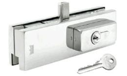 ตัวคีบกระจกล่างพร้อมกุญแจ  DORMA US10 + PC91
