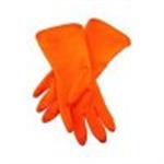 ถุงมือยางเอนกประสงค์ สีส้ม