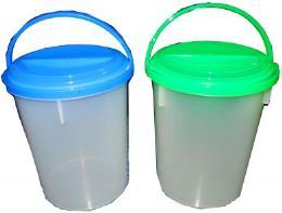 ถังน้ำพลาสติกแบบกลมสีใส