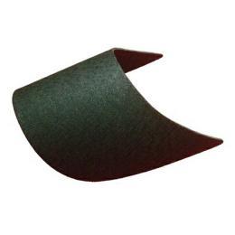 ปีกหมวกอัดโค้ง(สีดำ)