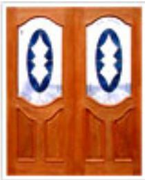 บานประตูไม้