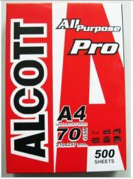 กระดาษถ่ายเอกสาร 70G A4 500 แผ่น Alcott