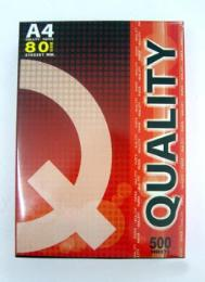 กระดาษถ่ายเอกสาร 80g A4 500 แผ่น QUOLITY