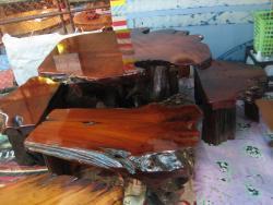 ชุกรากไม้ เก้าอี้ 4 ตัว