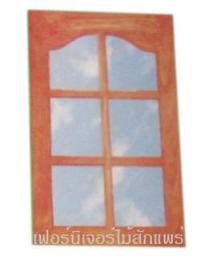 หน้าต่างไม้สัก ลายปีกนก