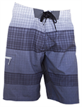 กางเกงชายหาดขาสั้นสีเทา