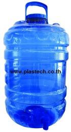 ถังน้ำดื่มมีก็อกมีหูหิ้วขนาด20ลิตรสีฟ้า