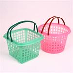 ตะกร้าหูหิ้วเหลี่ยม-กลม Shopping Basket 376-377