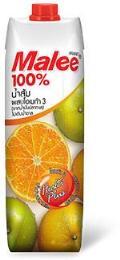 มาลี น้ำส้ม 100% ผสมโอเมก้า 3 (จากน้ำมันปลาทะเล)