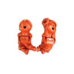 ตุ๊กตาดินเผาเด็กถือป้ายคู่ (SCD025)