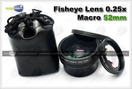 เลนส์ Fisheye Lens 0.25x + Macro 52mm