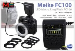 แฟลชMeike LED Macro Ring Flash FC100