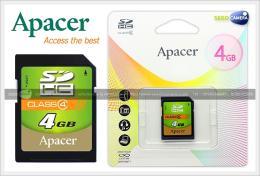 เมมโมรี่การ์ด APACER Memory 4Gb Class 4